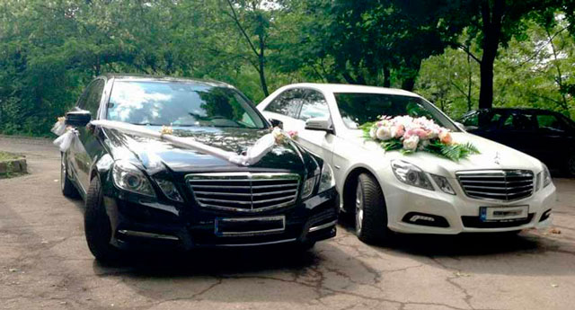 rent a car for wedding chisinau - MERS E CLASS white -